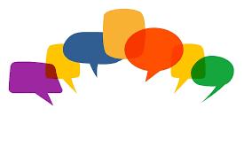 Graphic of speech bubbles in different colours. They do not contain any text.